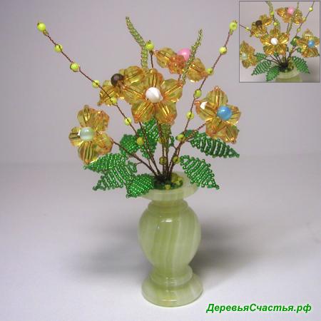 Цветок счастья из бисера