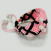 Плетеный браслет Нежная страсть с авантюрином и селенитом
