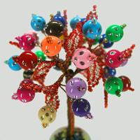 Цветное дерево из бисера