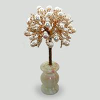 Дерево из жемчуга Свадебное в вазочке из оникса