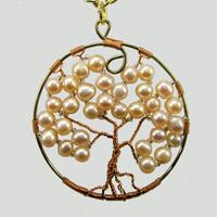 Ювелирный кулон с жемчугом Дерево счастья.