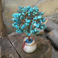 Купить подарок из бирюзы. Дерево из бирюзы Мин в стиле Ар Нуво