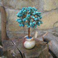 Купить сувенир из бирюзы. Дерево из бирюзы Мин в стиле Ар Нуво
