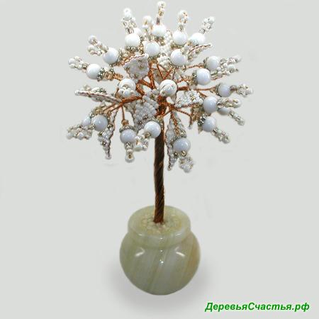 Дерево из селенита Белоснежное чудо. Купить изделие из селинита