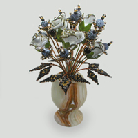 Цветок из агата Страстная любовь. Купить изделия из агата