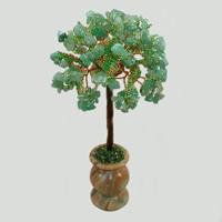 Дерево желаний из нефрита в вазочке из оникса