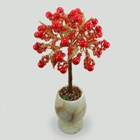 Дерево из коралла в вазочке из оникса Коралловый юбилей