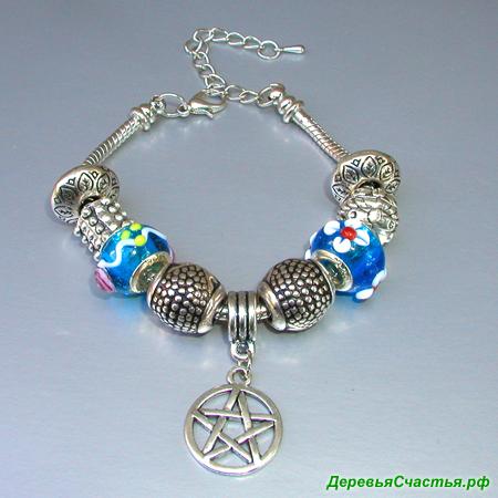 Браслет Звезда пленительного счастья в стиле Пандора. Купить браслет в стиле Пандора