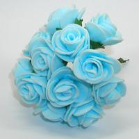 Искусственные голубые розы из фоамирана. Купить искусственные голубые розы