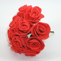 Искусственные красные розы из фоамирана. Купить искусственные красные розы