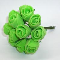 Искусственные зеленые розы из фоамирана. Купить искусственные зеленые розы