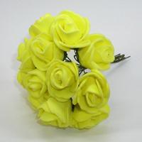 Искусственные желтые розы из фоамирана. Купить искусственные желтые розы