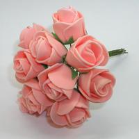 Искусственные персиковые розы из фоамирана. Купить искусственные персиковые розы