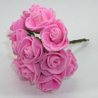 Искусственные розовые розы из фоамирана. Купить искусственные розовые розы