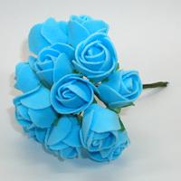 Искусственные синие розы из фоамирана. Купить искусственные синие розы