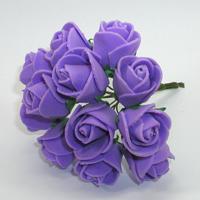 Искусственные сиреневые розы из фоамирана. Купить искусственные сиреневые розы