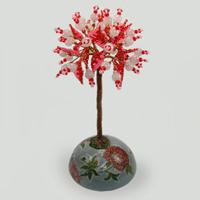 Дерево из розового кварца Счастливое. Купить изделие из розового кварца
