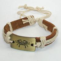 Купить кожаный браслет Рак. Купить мужские и женские кожаные браслеты