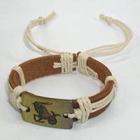Купить кожаный браслет Козерог. Купить мужские и женские кожаные браслеты
