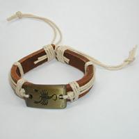 Купить кожаный браслет Скорпион. Купить мужские и женские кожаные браслеты
