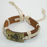 Купить кожаный браслет Стрелец. Купить мужские и женские кожаные браслеты