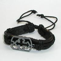 Купить кожаный браслет Велебор с крестом. Купить мужские и женские кожаные браслеты