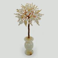 Дерево из горного хрусталя в вазочке из оникса Волшебство