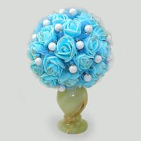 Цветы из кахолонга (молочного опала) Небесные