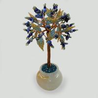 Дерево из лазурита Лазуритовое чудо в вазочке из оникса