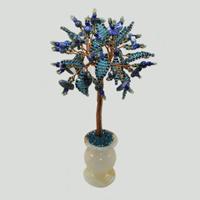 Дерево из лазурита Иоланта в вазочке из оникса