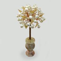 Дерево из жемчуга Свадебный подарок в вазочке из оникса