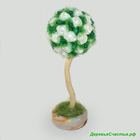 Дерево-топиарий из малахита Малахитовый сад