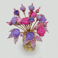 Цветы из агата Восторг любви
