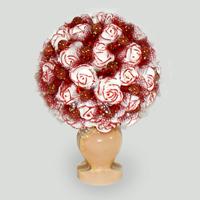 Цветы из авантюрина Счастливая любовь