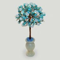 Дерево из бирюзы и лунного камня «Красиво про любовь»