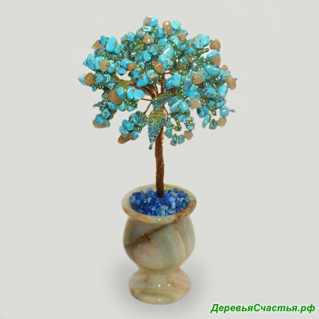 Дерево из бирюзы и сердолика Нежность моя