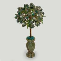 Дерево из лабрадора и малахита