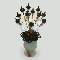 Цветы из агата