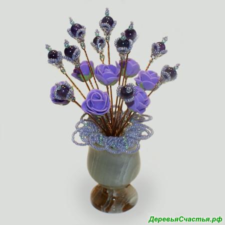 Цветы из аметиста Таинственная любовь