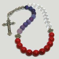 Четки христианские из горного хрусталя, агата и коралла «Ищущие жизнь»
