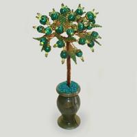 Дерево из малахита «Лесная сказка»