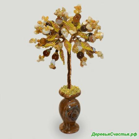 Дерево из сердолика и авантюрина «Аромат вкуса»